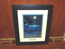 By Wyland (Ocean Passion)  Silver Foil Stamp Framed Whales & Fish