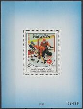 Yémen pdr 1983 ** bl.18 JEUX OLYMPIQUES HIVER Olympic Games hockey sur glace