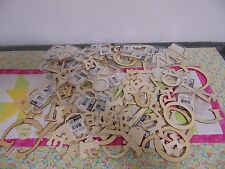 Wooden Craft Letter Lot and Some Numbers Different Sizes 100+
