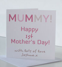 Mummy 1st First Mothers Day Card from Baby Daughter Son Newborn Little Boy Girl