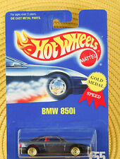 Hot Wheels BMW 850i #255 Gold Medal Speed Black New 1/64 Diecast Car