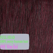 "7pcs 15"" 18"" 20"" 22"" Clip In Remy Real 100% Human Hair Extensions Full Head P888"