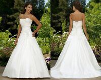 New White Bridal gown Wedding Dress Prom Ball Evening Dress Stock Size UK 6-20