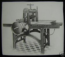 EDWARDIAN Glass Magic Lantern Slide LITHO PRINTING PRESS C1910