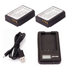 LP-E10 LPE10 Battery /2 PCS + Charger For Canon Rebel T5 Kiss X50 EOS 1200D