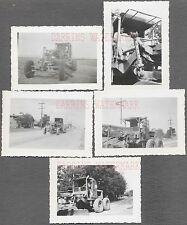 Lot of 5 Vintage Photos Caterpillar Diesel Road Grader Tractor 732537
