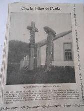 Chez Les Indiens de L'Alaska Totem Fétiche Image Print 1909