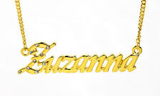 18K Gold Plated Necklace With Name ZUZANNA - Wedding Love Gifts For Her Birthday