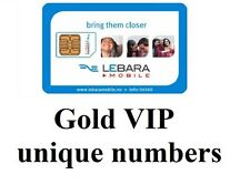 gold vip easy to remember unique numbers on lebara mobile network