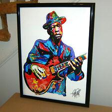 John Lee Hooker,  Blues Singer, Guitar Player, Chicago Blues, 18x24 POSTER w/COA
