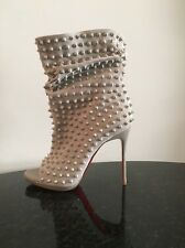 Christian Louboutin Guerilla 120 Suede Ankle Boot Bootie Spiked Leather 39.5