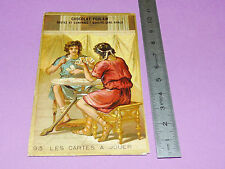 CHROMO CHOCOLAT POULAIN 1900-1905 ECOLE BON-POINT LES CARTES A JOUER