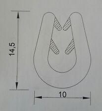 30 m schwarz 2-5 mm Fassungsprofil  Kantenschutz Gummidichtung Gummiprofil Keder