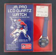 1981 Jr. Pro LCD Quartz Baltimore Colts NFL Football Watch in Box