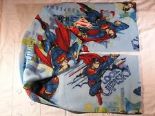 Superman on light blue Fleece Scarf Up Up and Away Look Up in the Sky