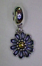 UNBRAND 925 STERLING SILVER 14K DANGLE GERBERA DAISY EUROPEAN SPACER Charm Bead