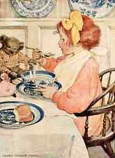 A4 Photo Willcox Smith Jessie 1909 Greedy taste for porridge Print Poster