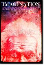 """ALBERT EINSTEIN """"IMAGINATION"""" ART PRINT PHOTO POSTER GIFT QUOTE"""