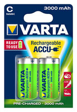 2 Varta Power Ready2Use Baby C Akku 1,2V 3000mAh 117514