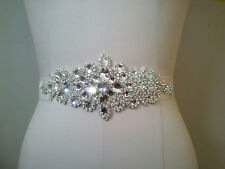 Clear Rhinestone Wedding Bridal APPLIQUE TRIM = DIY!!