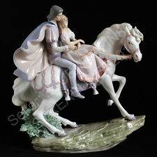 RARE Lladro Love Story 5991 MINT / L!KE NEW Fairy Couple Horse Figurine