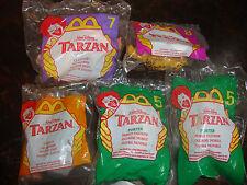 McDonald's--Tarzan--1999--Lot Of 5---#1---#5 (2)---#7---#8---Sealed---Lot #46