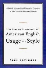 The Penguin Dictionary of American English Usage & Style Paul Lovinger Reference