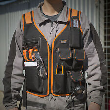 10229 Electrician Work Tool Pouch Vest with 7 Pocket & 4 Adjustable Straps