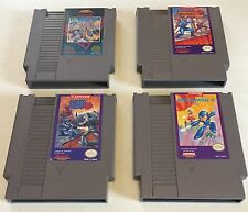 Nintendo NES Megaman 1 2 3 4 Games lot cart only Tested Work!