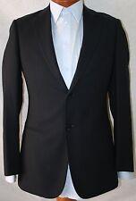 New Armani Collezioni 'Giorgio' Black Wool 2-BT Suit 42S/W36 EU 52C.