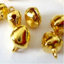100 Pezzi 6mm Gold Tone Metal JINGLE BELLS-a8178