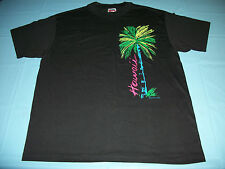 NWT 80s HAWAII Tourist T-Shirt LARGE 1989 Bright Neon Palm Trees Vintage S/S NEW