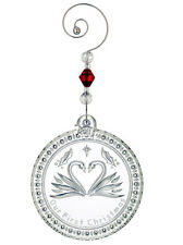 Waterford Crystal 2011 Our First Christmas Ornament Love Swan Motif #154325 New