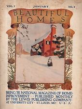 January 1909 Beautiful Homes in Columbia, Clayton, Kenwood Springs, St. Louis MO