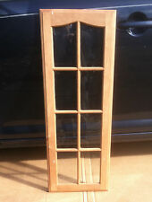 """Real wood Cabinet Doors with glass for Kitchen chic 14 1/2"""" x 40"""" nice quality"""