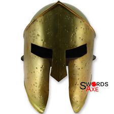 King Leonidas 300 Spartan Helmet Armor - Functional Steel Brazen Brass Finish