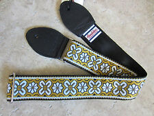SOULDIER Guitar Strap GREENWICH YELLOW WHITE Vintage Style Woven // ERIC CLAPTON