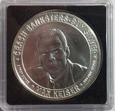 "Silver Keiser 1 ozt Round / Medallion. Rare Original 2010 ""Crash Bankster"" issue"