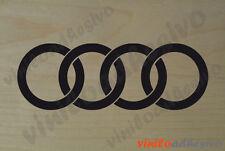 PEGATINA STICKER VINILO COCHE Audi aros autocollant aufkleber