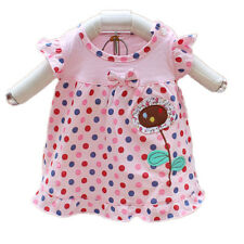 New Baby Girls Pink Dotted Cotton Top 6-9 Months