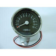Tachometer Chrome 0-12,000 RPM 1=1:4 Ratio Tach Cafe Racer Custom Suzuki GS