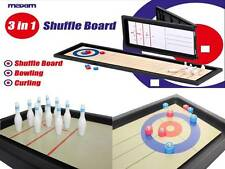 CENTROTAVOLA 3 in 1 Sports Shuffle Board Game MINI dieci PIN Bowling & CURLING NUOVO