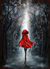 Halloween Little Red Riding Hood Costume Art - Dark Fantasy Gothic Painting