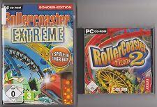 Roller Coaster Extreme + ROLLERCOASTER TYCOON 2 Sammlung PC Spiele