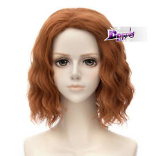 Orange 30CM Short Wigs for The Avengers Black Widow Ash Curly Anime Cospaly Wig