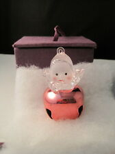Boxed Pink Baby Girl Christmas Ornament Bell