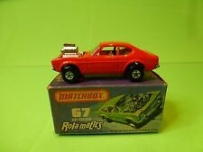 MATCHBOX 67 ROLA-MATICS FORD CAPRI HOT ROCKER  - ORANGE - NEAR MINT IN BOX