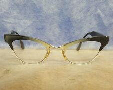 Vintage Cat Eye Eyeglasses Frames Bausch and Lomb 4 1/8 - 5 1/2 12K Gold Filled
