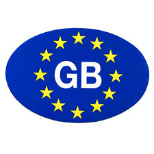 Car, Trailer & Caravan EU European Travel Self Adhesive Blue GB Sticker Plate