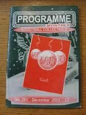Dec-2002 Programme Monthly & Collectable: The Voice Of 'Football Programme' Coll
